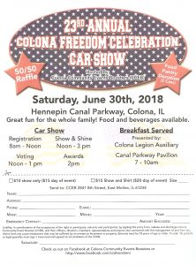 Freedom Celebration Car Show @ Hennepin Canal Parkway | Colona | Illinois | United States