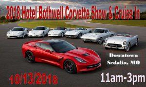 Hotel Bothwell  Corvette Show and Cruise-In @ Downtown Sedalia | Sedalia | Missouri | United States