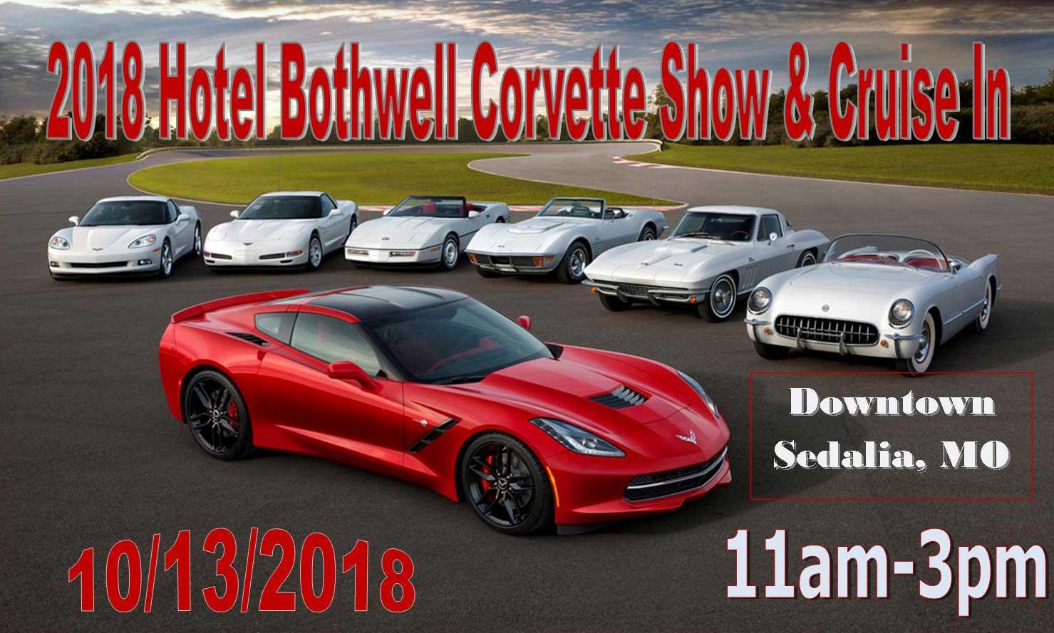 Hotel Bothwell Corvette Show And CruiseIn MidWest Corvettes Inc - Car show sedalia mo