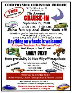 Countryside Christian Church 7th Annual Cruise In @ Countryside Christian Church | Port Byron | Illinois | United States