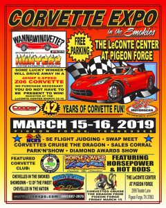 Corvette Expo In The Smokies @ The LeConte Center